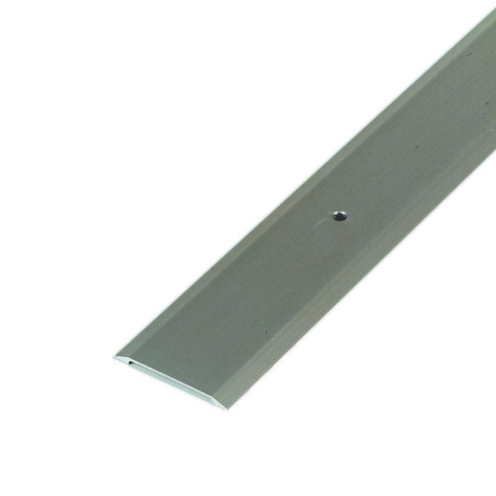 Flat Top 1-3/4 in. x 23 in. Satin Nickel Aluminum Saddle