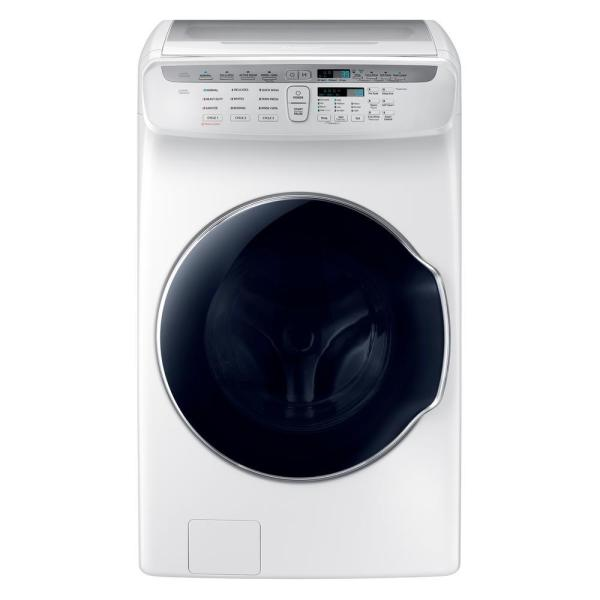 5.5 Total cu. ft. High-Efficiency FlexWash Washer in White