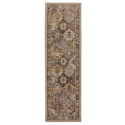 Patchwork Gray 2 ft. x 7 ft. Medallion Runner Rug