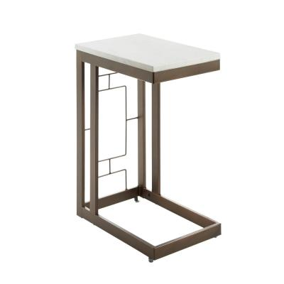 Bronze Double Square C Table with Square  Accent Table