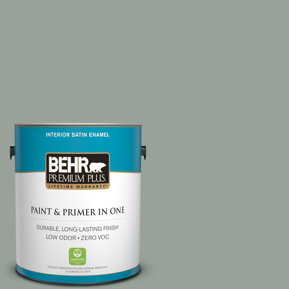 BEHR Premium Plus 1-gal. #N410-4 Nature's Gift Satin Enamel Interior Paint
