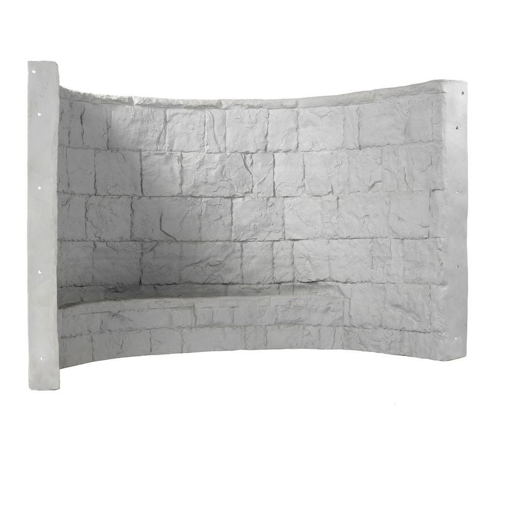 66 in. x 39 in. x 48 in. Grey Premier Composite Window Well
