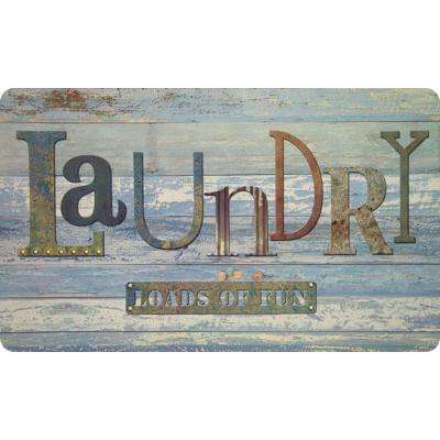 Rustic Laundry 20 in. x 36 in. Foam Mat