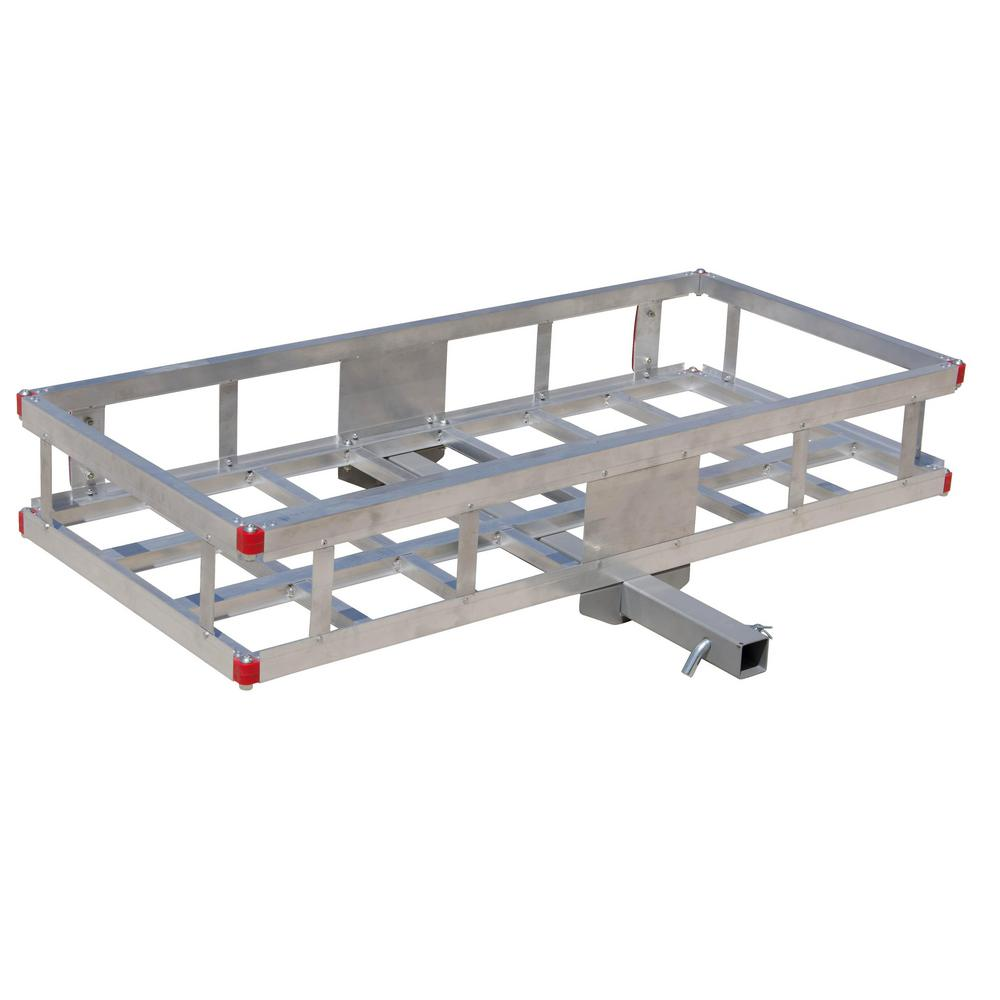 Erickson 500 lb. Capacity 48 inch x 22 inch Aluminum Hitch Cargo Carrier for 2 inch Receiver