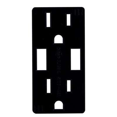Replacement Receptacle Faceplate in Matte Black