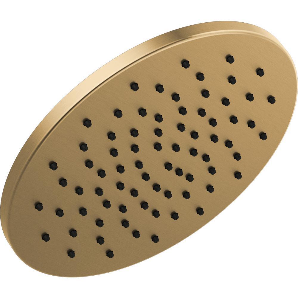 1-Spray 11-3/4 in. Round Showerhead in Champage Bronze