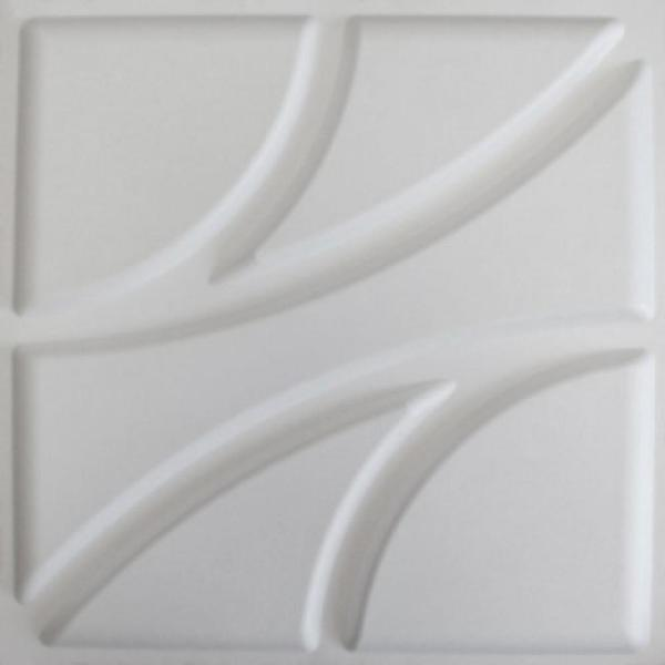 Kingsman Hardware 19.6 in. x 19.6 in. x 1 in. Off-White Plant Fiber Root Design Glue-On Wainscot Wall Panels (10-Pack)