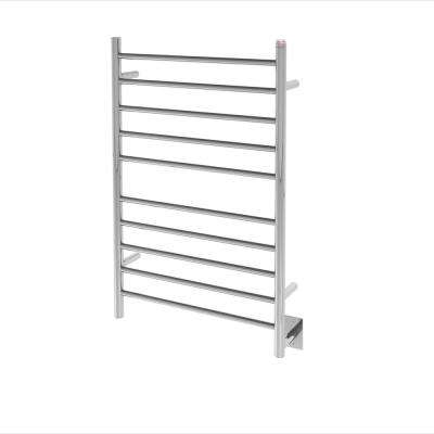 Comfort Dual 10-Bar Hardwired and Plug-in Towel Warmer in Polished Stainless Steel