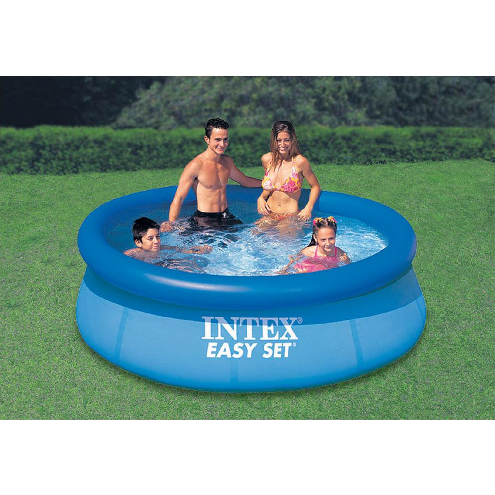 Intex Easy Set 8 ft. Round x 30 in. Deep Inflatable Pool-28110EH ...