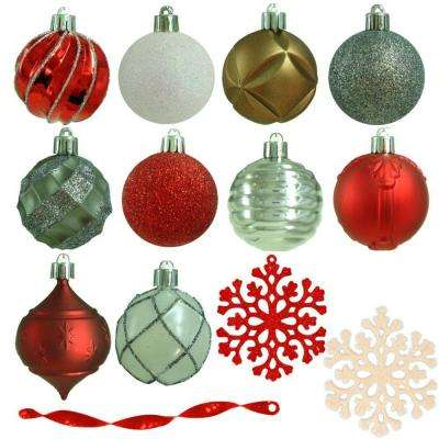 2.3 in. Winter Tidings Shatter-Resistant Ornament (101-Count)