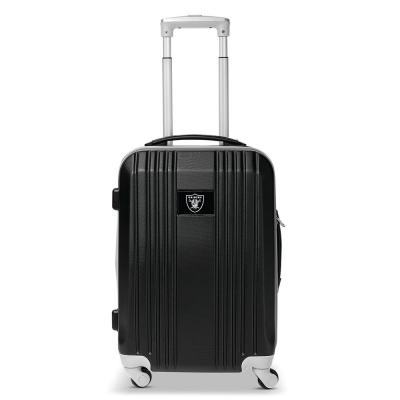 Denco NFL Oakland Raiders 21 in. Black Hardcase 2-Tone Luggage Carry-On Spinner Suitcase