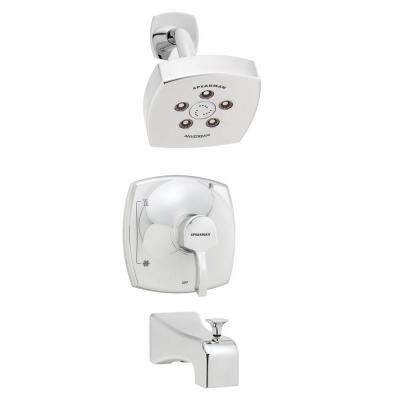 Tiber Single-Handle 3-Spray Tub and Shower Faucet in Polished Chrome (Valve Included)