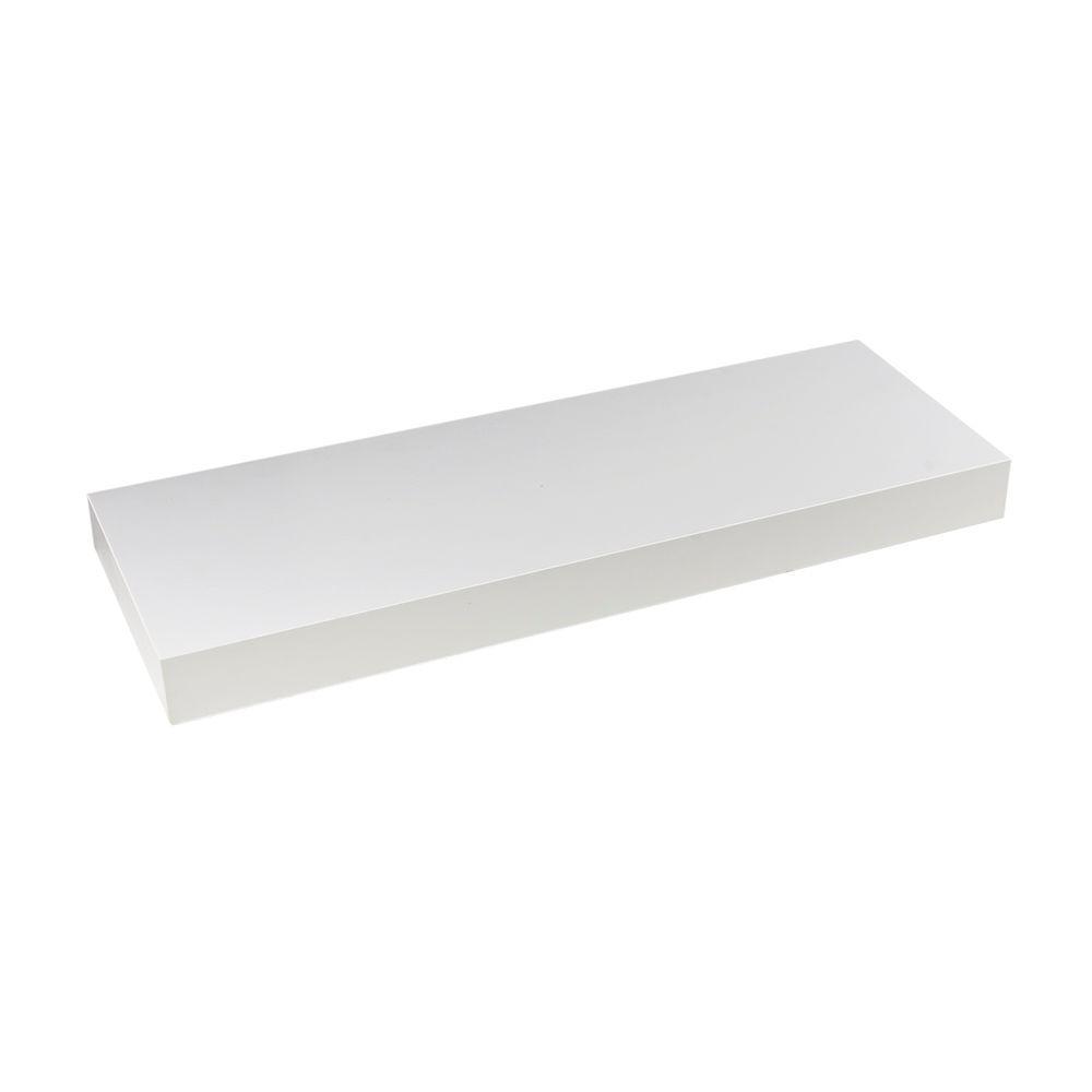 Wallscapes 10 in. x 1-3/4 in. White Wood Veneer Straight Floating Shelf Kit (Price Varies By Length)