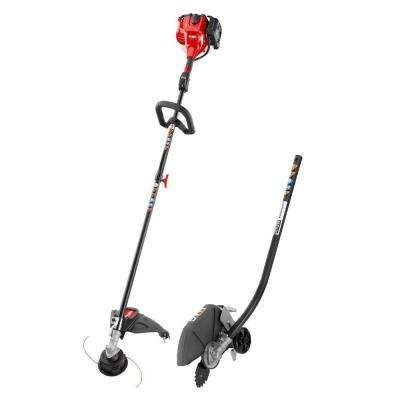 2-Cycle 25.4cc Attachment Capable Straight Shaft Gas String Trimmer with Edger Attachment