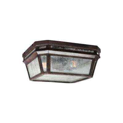 Londontowne Weathered Chestnut 2-Light Outdoor Flush Mount