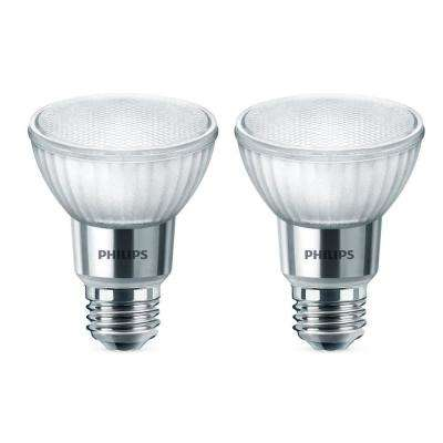 50 Watt Equivalent PAR20 Dimmable LED Warm Glow Flood Bright White (2 Pack