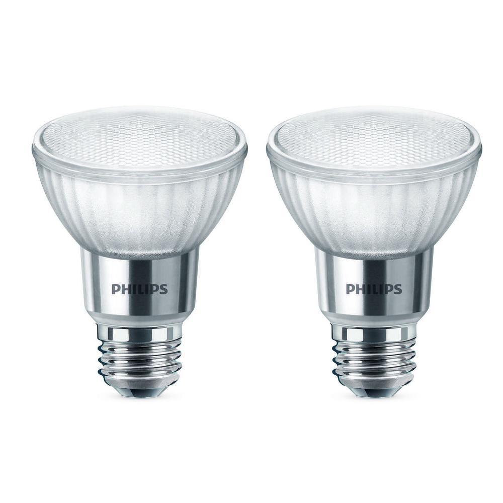 50-Watt Equivalent PAR20 Dimmable LED Warm Glow Flood Light Bulb Bright White (2-Pack)