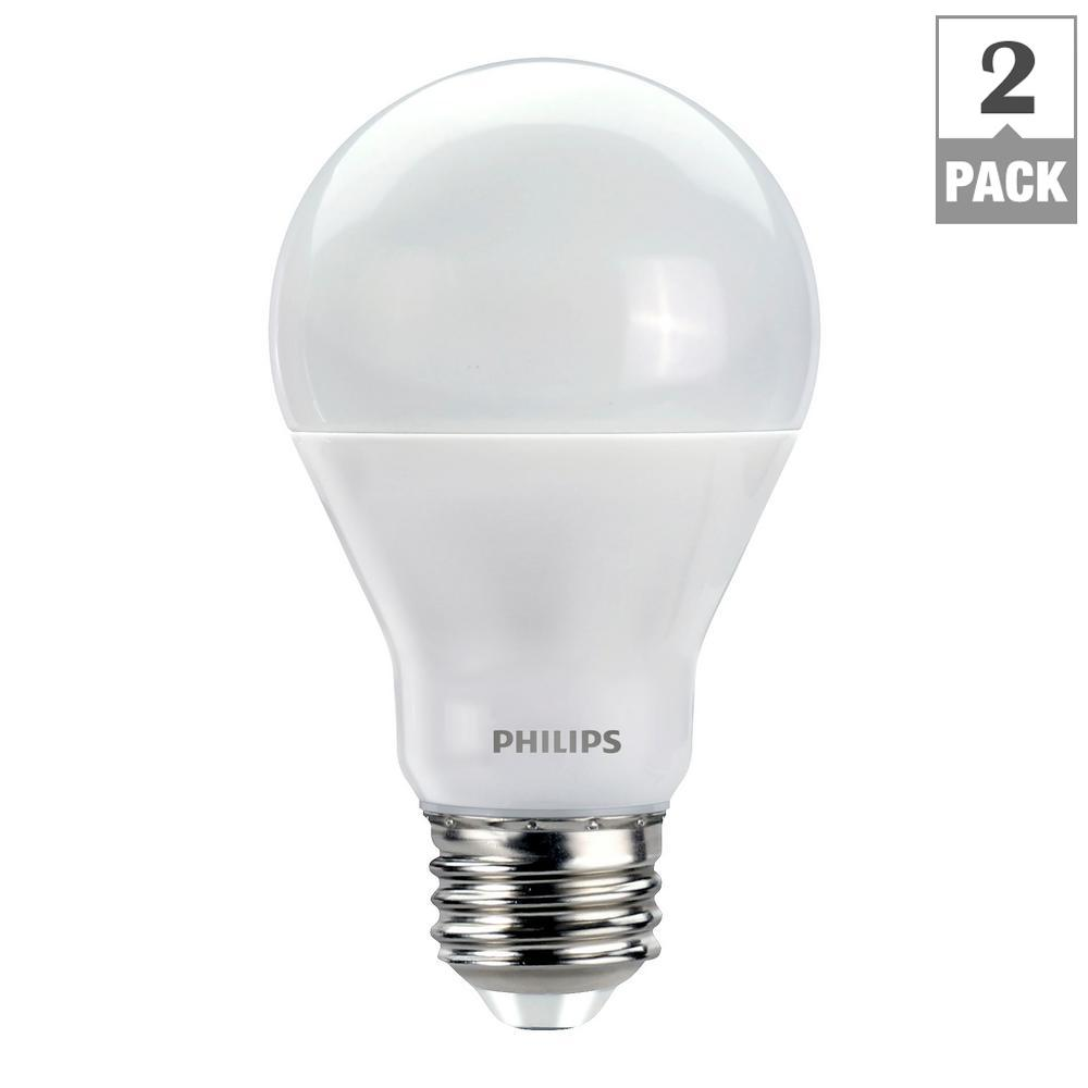 Philips 60 Watt Equivalent A19 Dimmable LED E Light Bulb Soft White With Warm  Glow
