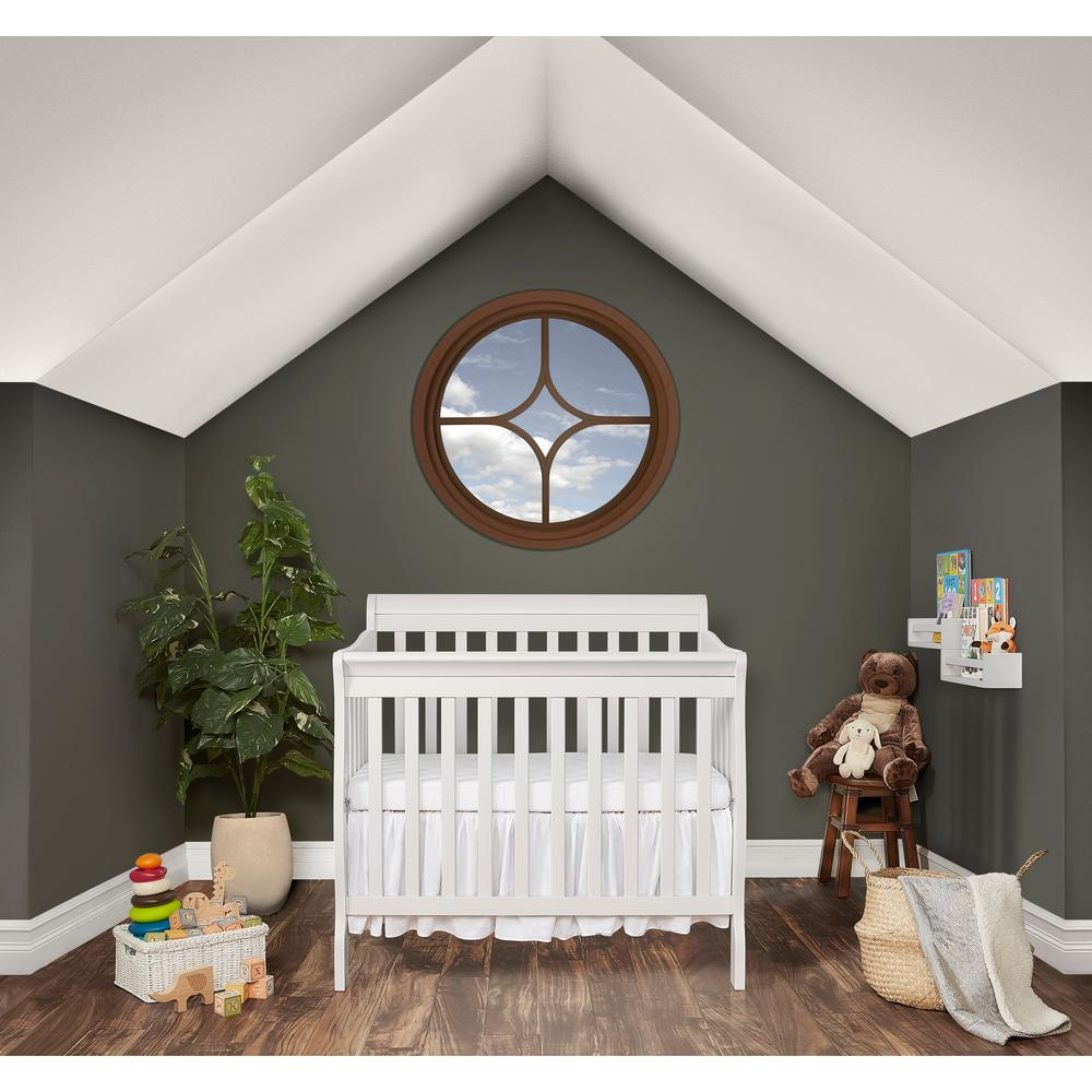 Dream On Me Aden White 4 In 1 Convertible Mini Crib 628 W