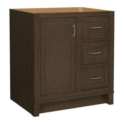 Kinghurst 30 in. W x 21 in. D x 33.5 in. H Bath Vanity Cabinet Only in Gray