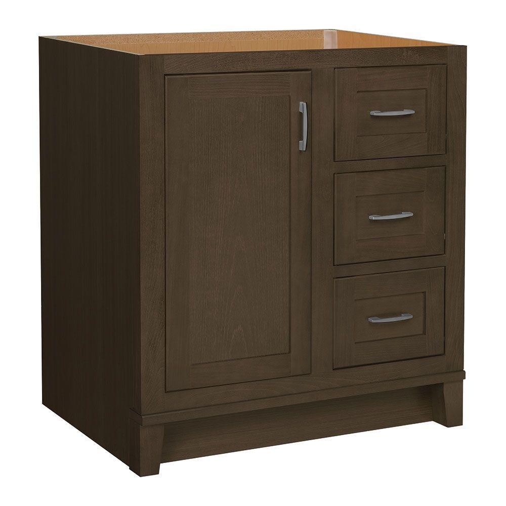 Kinghurst 30 in. W x 21 in. D x 33.5 in. H Bath Vanity Cabinet Only in Gray