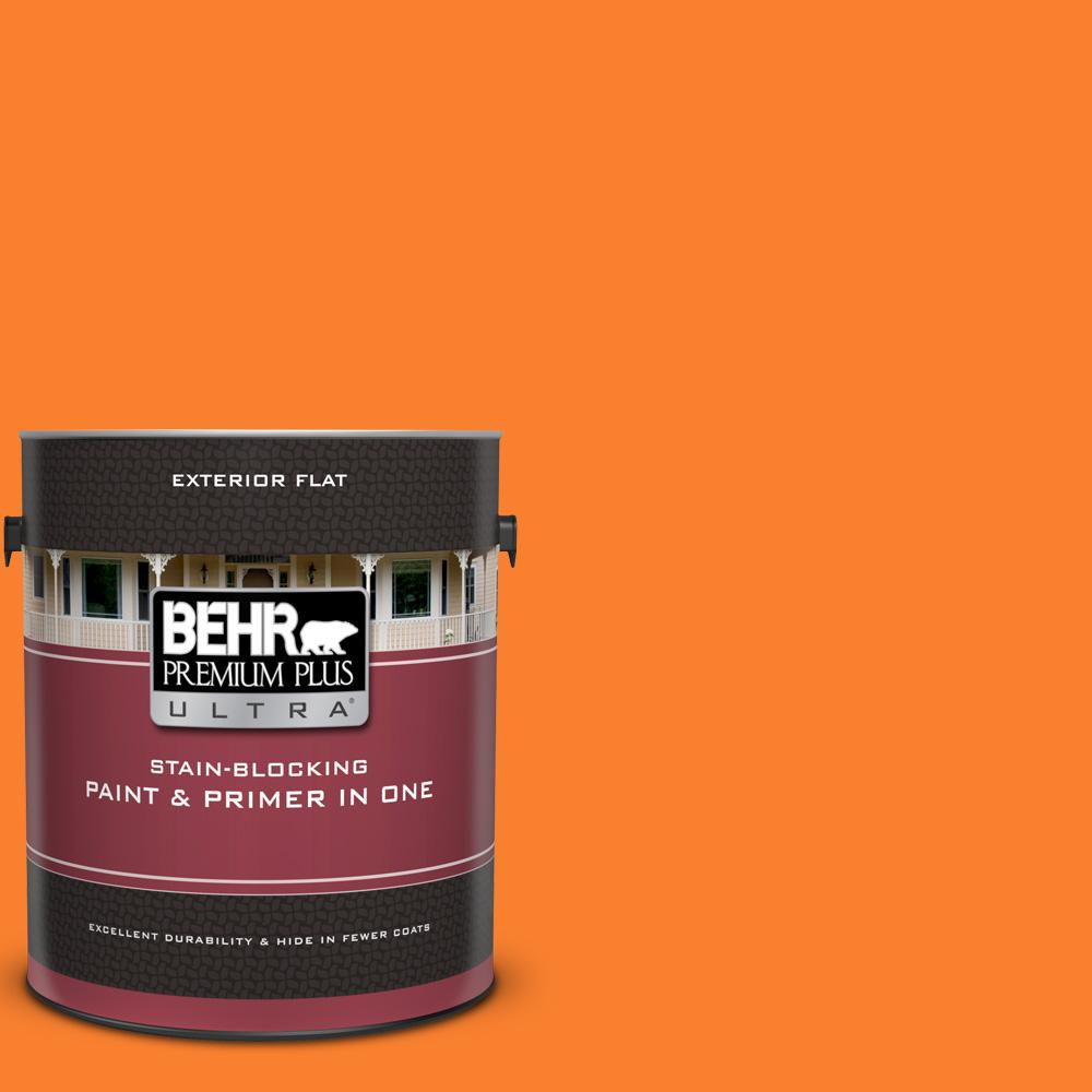 BEHR Premium Plus Ultra 1 gal  #S-G-270 Summer Citrus Flat Exterior Paint  and Primer in One