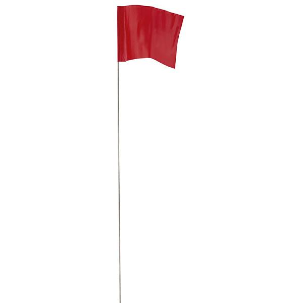 2.5 in. x 3.5 in. Red Stake Flags (100-Pack)