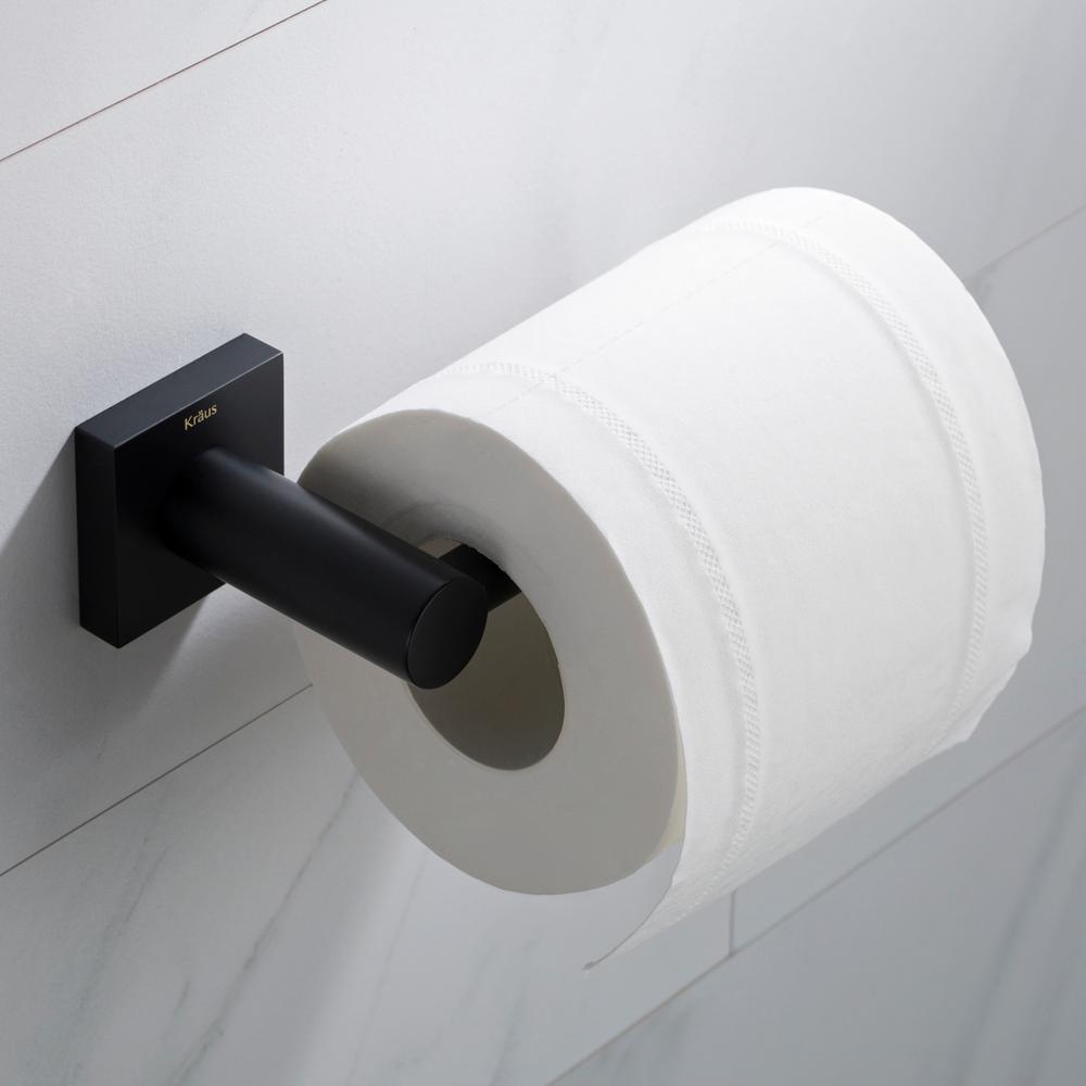 Kraus Ventus Bathroom Toilet Paper Holder In Matte Black Kea 17729mb