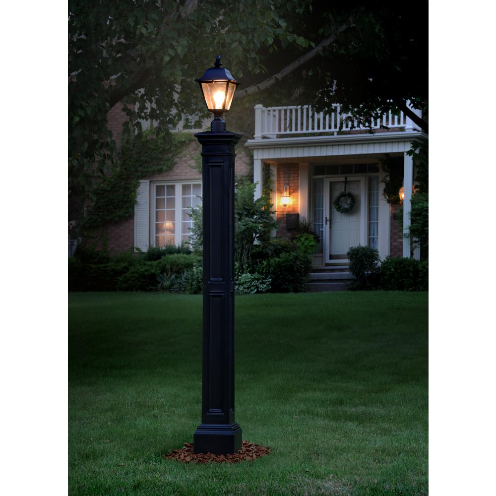 Elegant Mayne Liberty Black Lamp Post With Mount