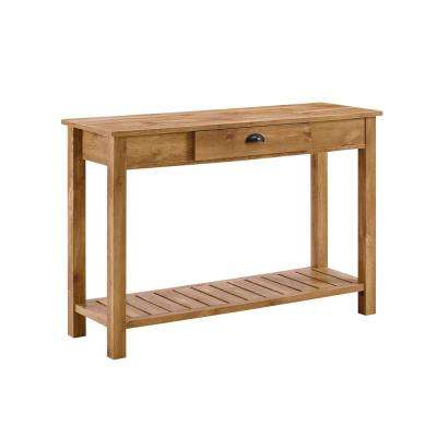 48 in. Country Style Entry Console Table in Barnwood