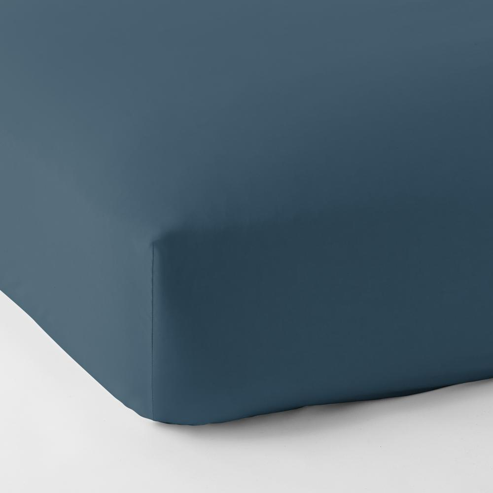 The Company Store Steel Blue Solid 450 Thread Count