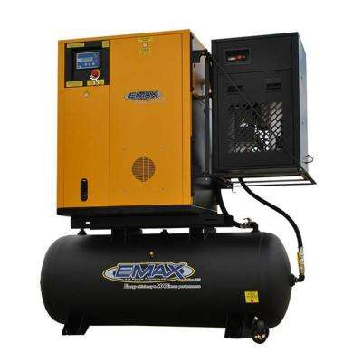 Premium Series 7.5 HP 208-Volt 3-Phase 120 Gal. Electric Rotary Screw Air Compressor with Refrigerated Dryer