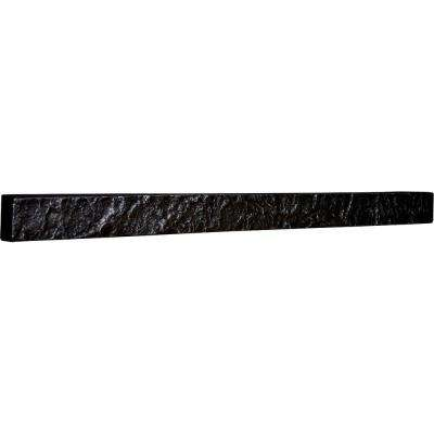 2 in. x 48-1/4 in. x 3 in. Graphite Urethane Universal Trim for Stone and Rock Wall Panels