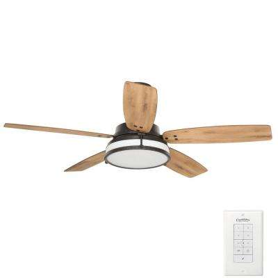 Caneel Bay 56 in. Indoor/Outdoor Aged Steel Ceiling Fan with Light Kit