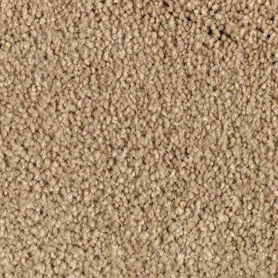 Cashmere III - Color Oasis Sand Putty Texture 12 ft. Carpet