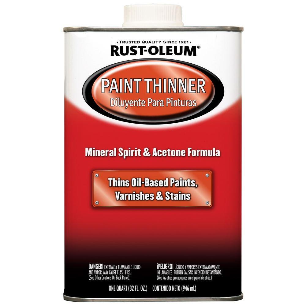 Rust Oleum Automotive 1 Qt Low Voc Paint Thinner 4 Pack 253350