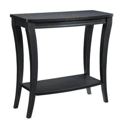 Newport Black Console Table with Shelf