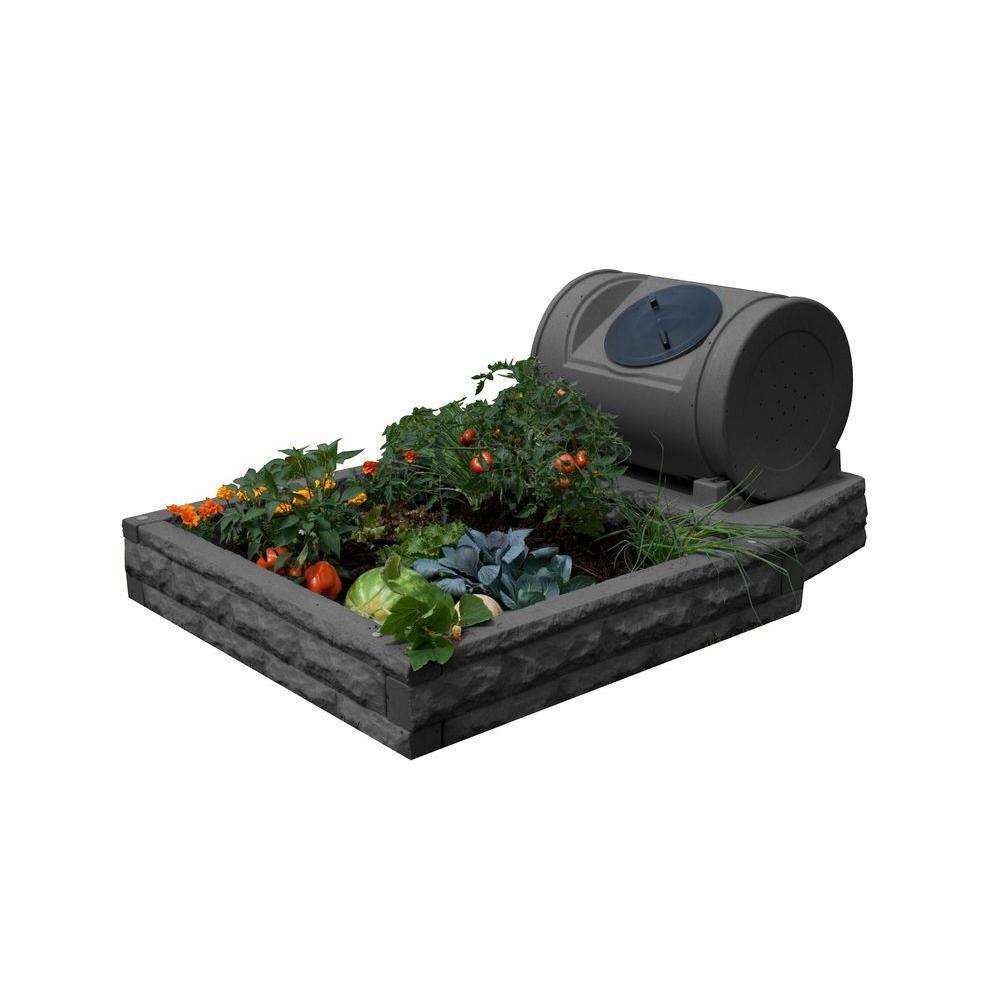 Hybrid Dark Granite Raised Garden Bed
