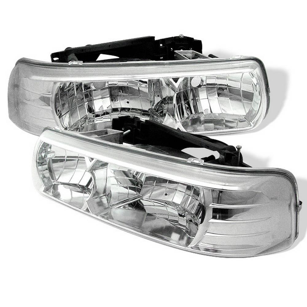 Chevy Silverado 1500/2500 99-02 / Silverado 3500 01-02 /Suburban 1500/2500 00-06 / Tahoe 00-06 Crystal Headlight-Chr