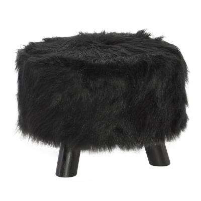 Black Accent Foot Stool