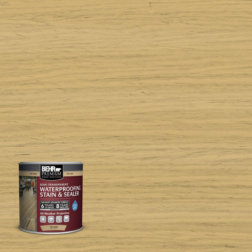 8 oz. #ST-139 Colonial Yellow Semi-Transparent Waterproofing Stain and Sealer