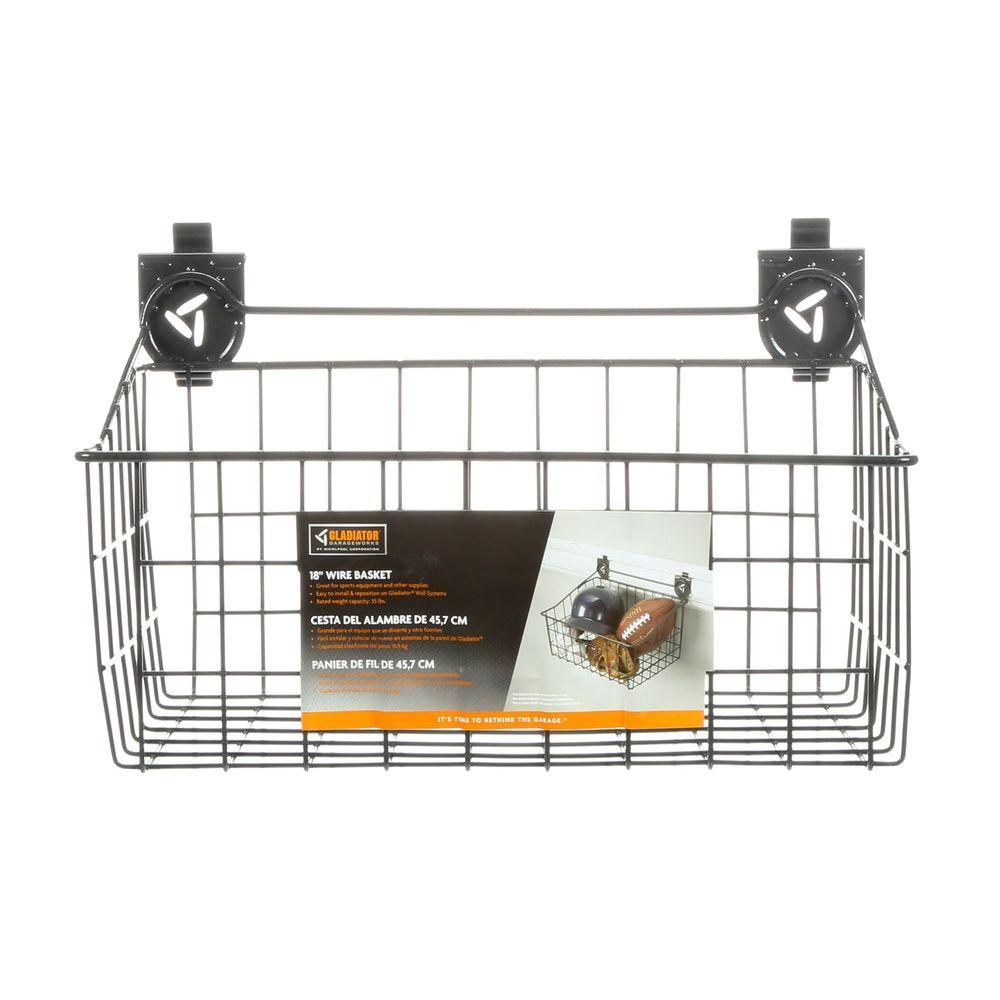 Gladiator 18 in. W x 12 in. D Ventilated Wire Basket Garage Storage for GearTrack or GearWall
