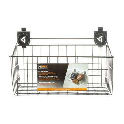 18 in. W x 12 in. D Ventilated Wire Basket Garage Storage for GearTrack or GearWall