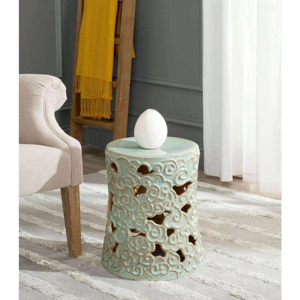 Safavieh Ocean Cloud Reactive Aqua Garden Patio Stool