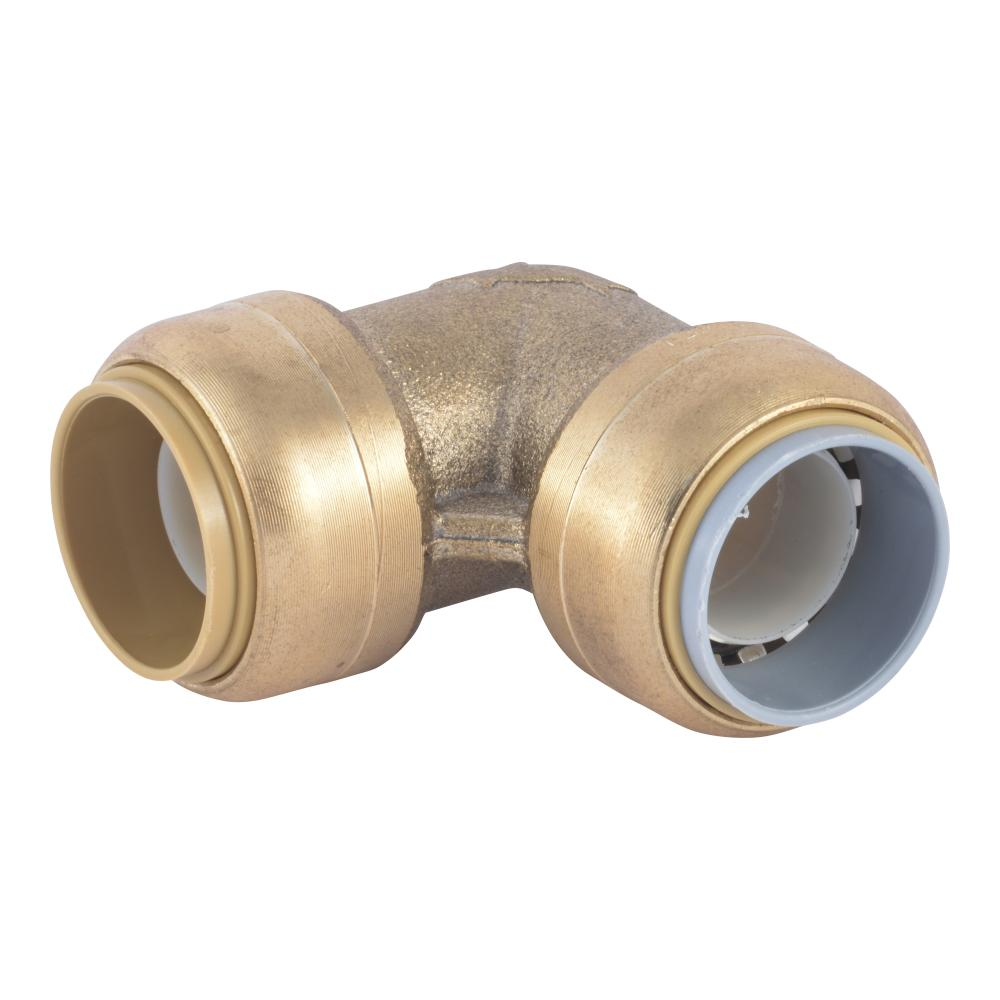 SharkBite SharkBite 3/4 in. Push-to-Connect Brass 90-Degree Polybutylene Conversion Elbow Fitting