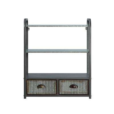 Intek 24.6 in. W Silver Space Saver Wall Cabinet