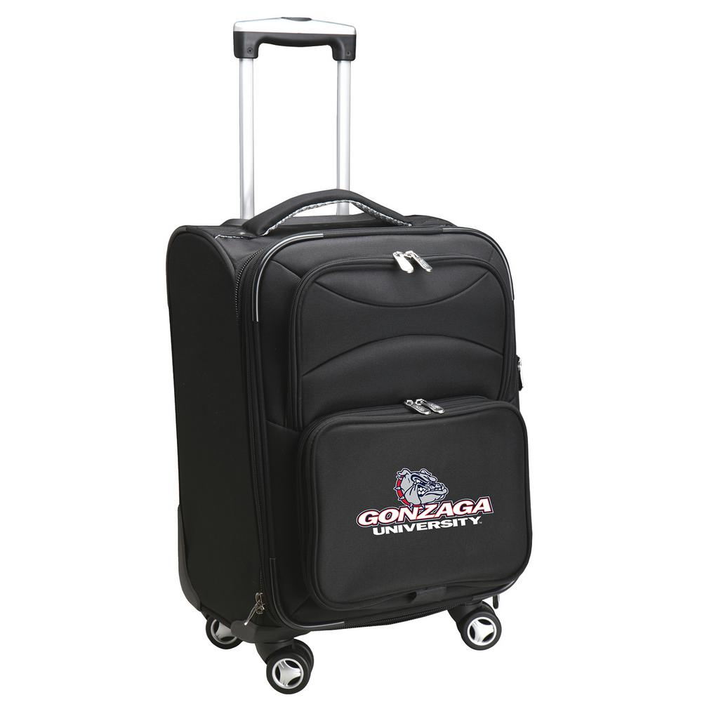 Ncaa Gonzaga 21 in. Black Carry-On Spinner Softside Suitcase