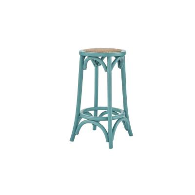 Mavery Aloe Green Wood Backless Counter Stool (13.8 in. W x 26 in. H)