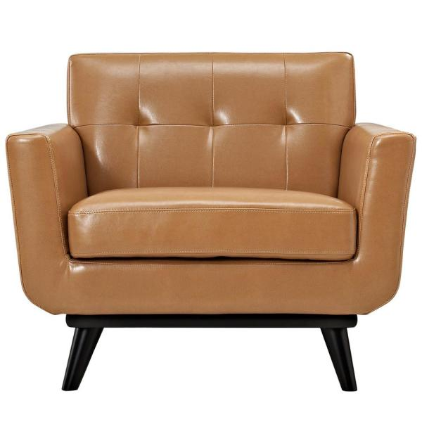 Engage Tan Bonded Leather Armchair