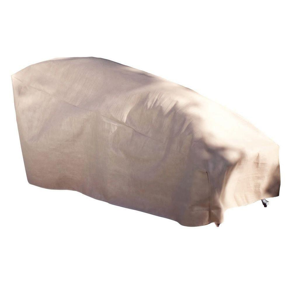 Duck Covers Elite 74 in. L Patio Chaise Lounge Cover with Inflatable Airbag to Prevent Pooling